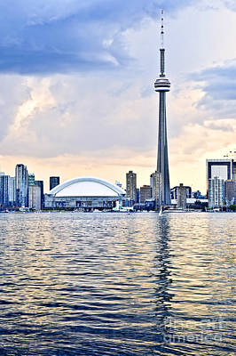 Landscapes Royalty-Free and Rights-Managed Images - Toronto skyline 15 by Elena Elisseeva