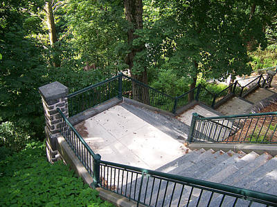 Manayunk Photograph - 100 Steps At The Wissahickon by Bill Cannon