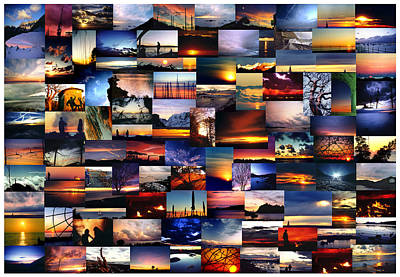 Wall Art - Photograph - 100 Sunsets And Sunrises by Andrea Gabrieli