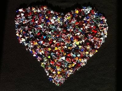 Lampwork Photograph - 1001 Hearts As One by Hillel Rzepka