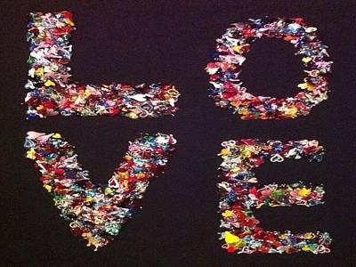 Lampwork Photograph - 1001 Hearts In Love by Hillel Rzepka