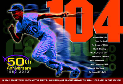 Major League Baseball Digital Art - 104 by Ron Regalado