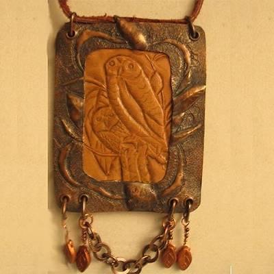 Jewelry - 1054 Owl Totem by Dianne Brooks