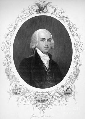 James Madison (1751-1836) Art Print by Granger