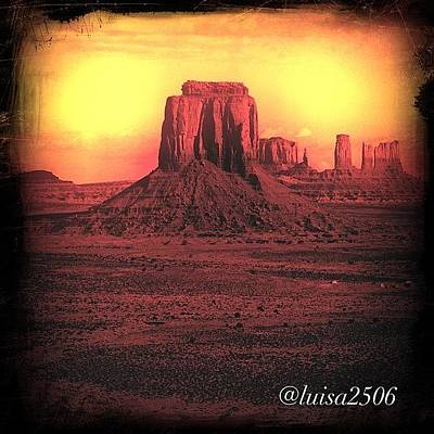 University Photograph - Monument Valley by Luisa Azzolini