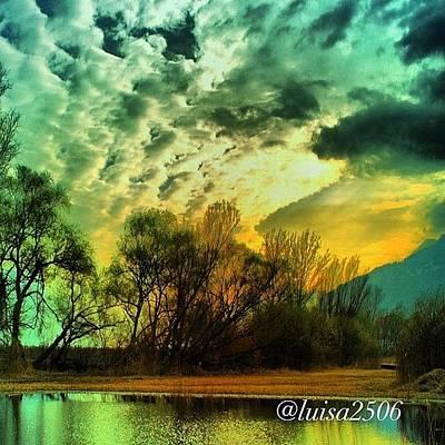 Reflection Wall Art - Photograph - Sunset by Luisa Azzolini