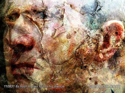 Clive Digital Art - 110831 Its Hush Money To Buy His Silence by Ian Bunn