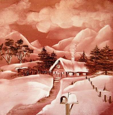 1140b Winter Scene Art Print by Wilma Manhardt