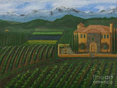 Painting - 11425 Tuscany by L J Oakes