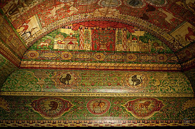 Photograph - 11th Century Polish Synagogue Ceiling by Endre Balogh