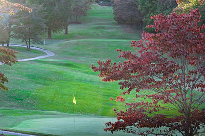 Photograph - 11th Hole At Clarksville C C by Ed Gleichman