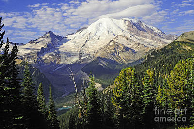 Photograph - #12-5 Sunrise East-side Of Mt Rainier  by Jack Moskovita