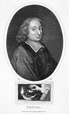 Oil Lamp Photograph - Blaise Pascal (1623-1662) by Granger
