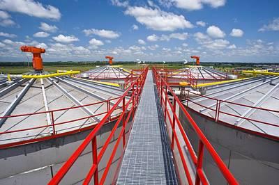 Corn Ethanol Processing Plant Art Print by David Nunuk