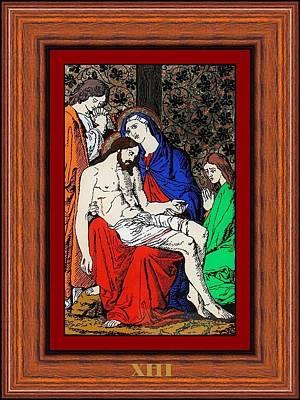 Drumul Crucii - Stations Of The Cross  Art Print by Buclea Cristian Petru
