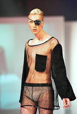 Fat Fashion Art Toronto Futurescape  Art Print by Andrea Kollo