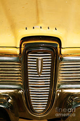 Rusted Antique Ford Car Brand Ornament Print by ELITE IMAGE photography By Chad McDermott