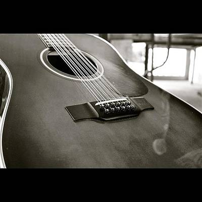 String Instruments Photograph - 12 String Guitar In Bw by Justin Connor