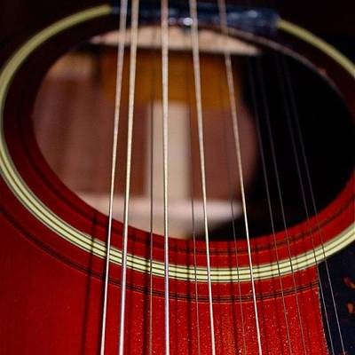 String Instruments Photograph - 12 String Guitar by Justin Connor