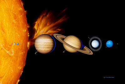 Sun And Its Planets Art Print by Detlev Van Ravenswaay