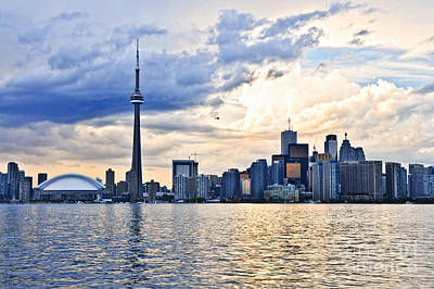 Highrises Photograph - Toronto Skyline by Elena Elisseeva