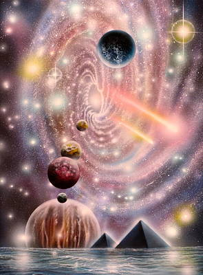 Galactic Alignment Painting - 122112-113 by Sam Del Russi