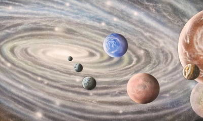 Galactic Alignment Painting - 122112-234 by Sam Del Russi