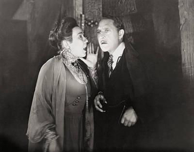 Secret Whispers Photograph - Silent Still: Man & Woman by Granger