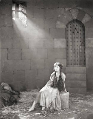 Dungeon Photograph - Silent Film Still: Woman by Granger