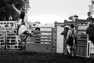 Badlands Photograph - Bull Rider by Rick Rowland