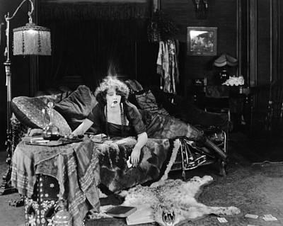 Photograph - Silent Film Still: Smoking by Granger