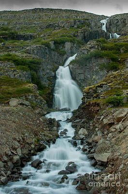 Photograph - Waterfall Iceland by Jorgen Norgaard
