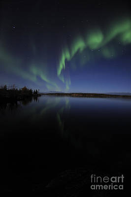 Yellowknife Photograph - Aurora Borealis Over Long Lake by Jiri Hermann