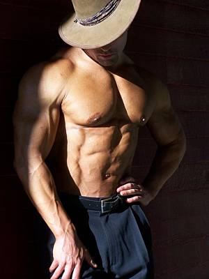 Pecs Digital Art - Male Muscle Art by Jake Hartz