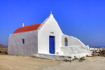 Blue Photograph - Mykonos by Joana Kruse