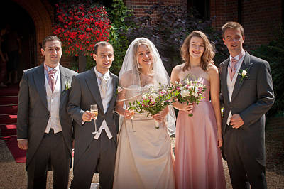 Photograph - Samamywedding2012 by Chris Boulton