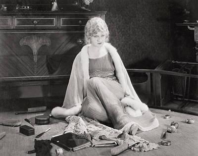 Silent Film Still: Woman Art Print
