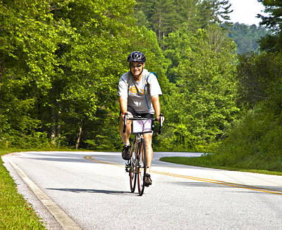 Bicycle Ride Across Georgia Art Print by Susan Leggett