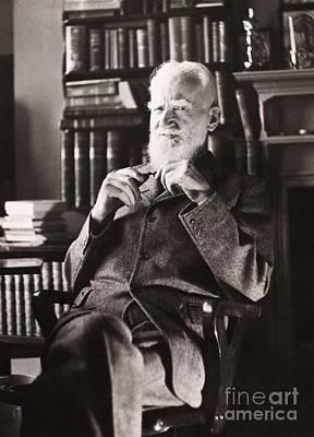 Bookcase Photograph - George Bernard Shaw by Granger