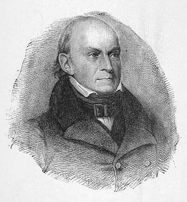 Lapel Photograph - John Quincy Adams by Granger