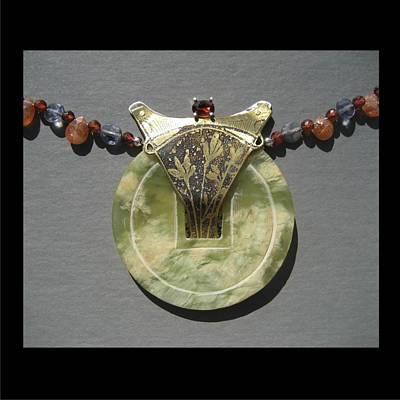 Jewelry - 156 Jade And Garnet by Brenda Berdnik