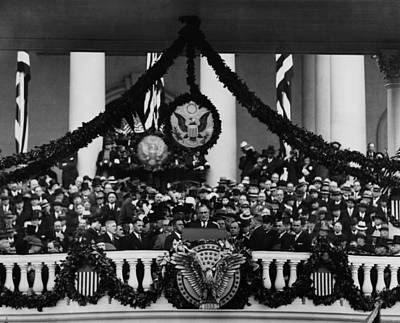 Great Seal Of The United States Photograph - Fdr Presidency. Us President Franklin by Everett