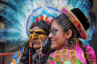New Years - Hispanic Columbus Day Parade NYC 11 9 11 by Robert Ullmann