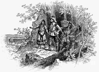 Indian Basket Photograph - Pocahontas (1595?-1617) by Granger