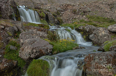 Waterfall Art Print by Jorgen Norgaard