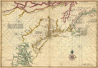 1639 Maps Of British Colonies In North Art Print