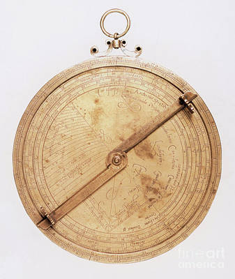 16th Century Astrolabe Art Print by Science Source