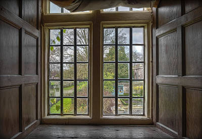 Photograph - 16th Century Avebury Manor   On The Inside Looking Out by Clare Bambers
