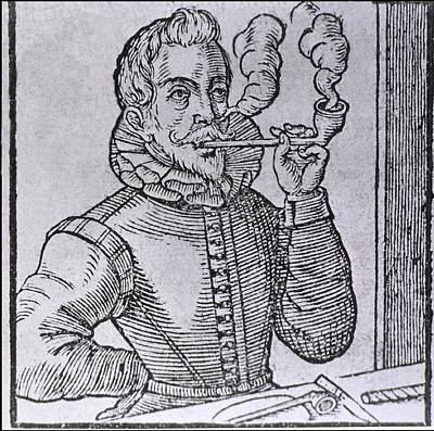 16th Century Dutchman Smoking Art Print by Everett
