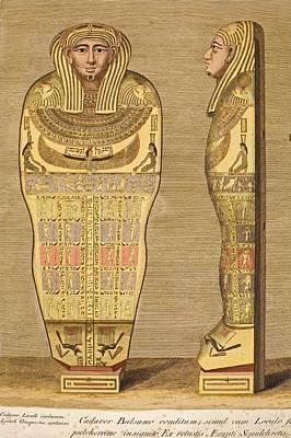 1724 First British Museum Sarcophagus Art Print by Paul D Stewart